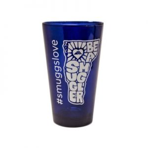 Be a Smuggler Blue PInt Glass