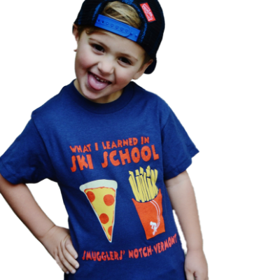 Smugglers' Youth Ski School Pizza and Fries T-Shirt