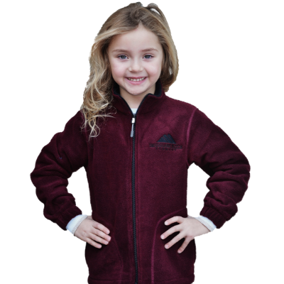 Landway Youth Newport fleece, burgundy and blue