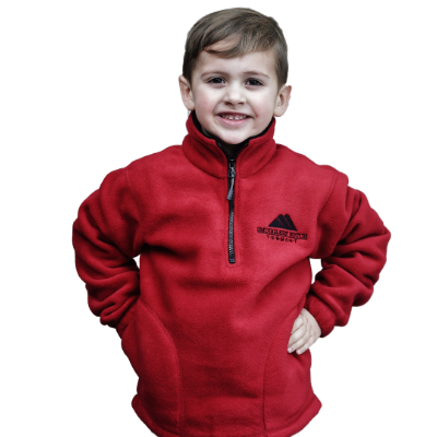 Landway Youth Saratoga fleece, red and navy