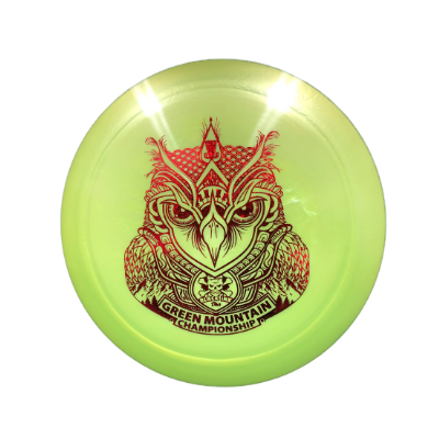 DC Ti Crank Owl: Green/Red Sparkle